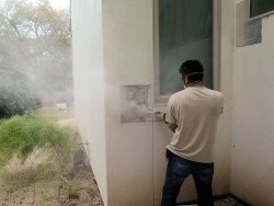 Stucco cutting