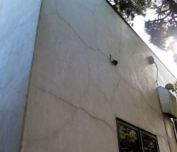 Stucco with cracks